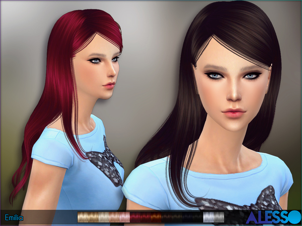 Emilia Hair by Alesso at TSR image 1224 Sims 4 Updates