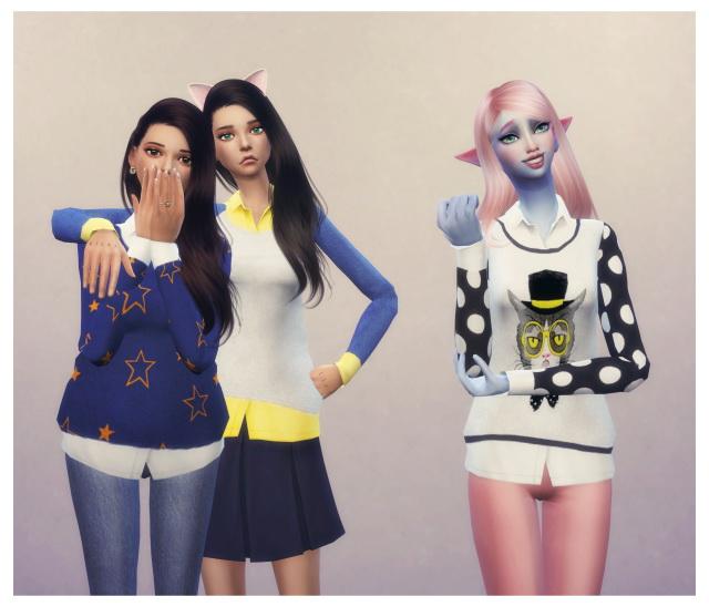 Cute Harajuku Sweaters at Dani Paradise image 1230 Sims 4 Updates