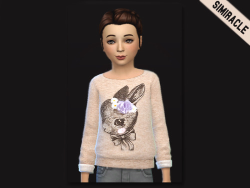 Bunny Sweater at Simiracle image 12315 Sims 4 Updates