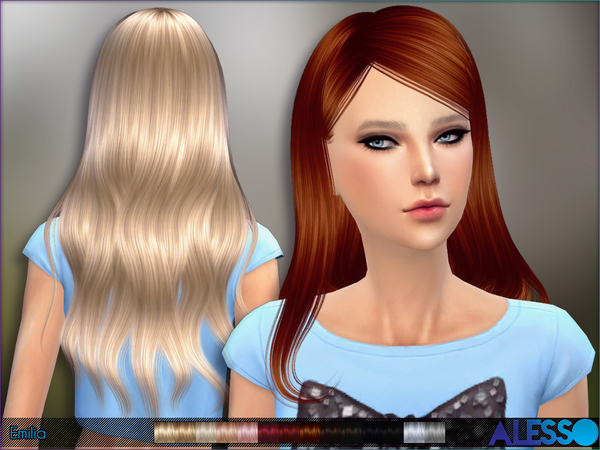 Emilia Hair by Alesso at TSR image 1234 Sims 4 Updates