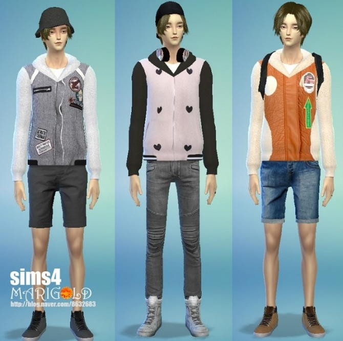 Sims 4 Hoodie jacket for males at Marigold