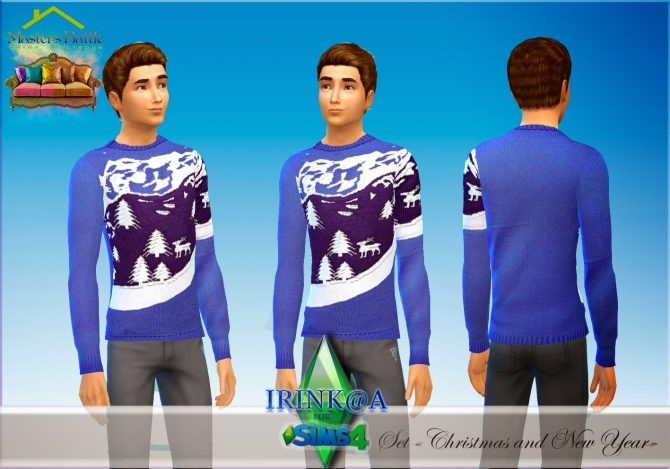 Christmas and New Year sweaters at Irink@a image 125 Sims 4 Updates