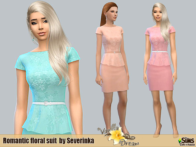 Sims 4 Vanilla Dream Romantic collection at Sims by Severinka