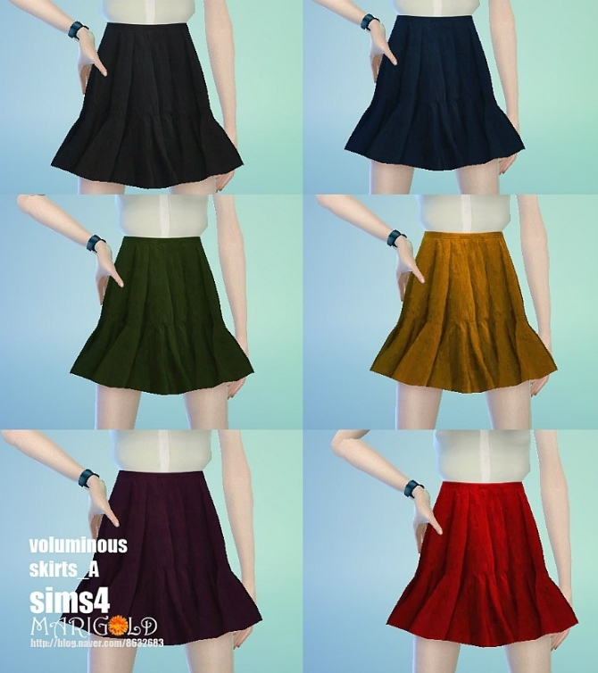 Sims 4 Voluminous skirts at Marigold