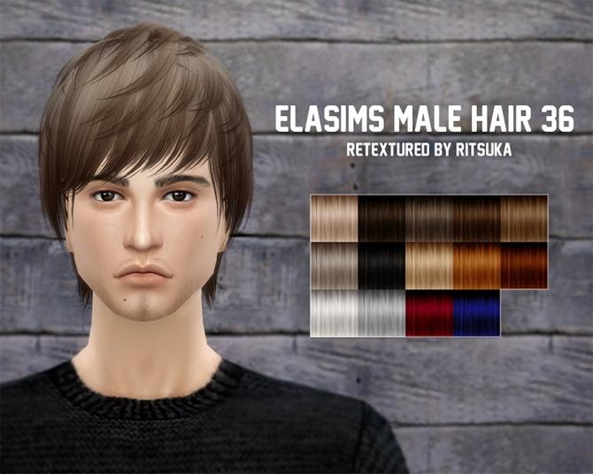 Sims 4 Elas 36&24 hair conversions retextured at Ritsuka