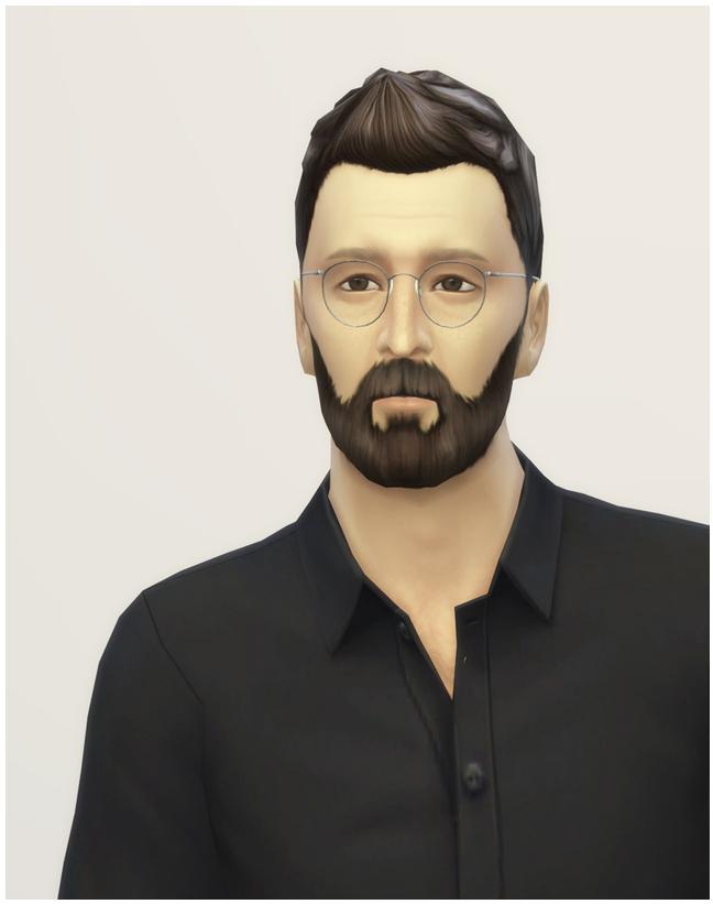 Sims 4 Faux Hawk edit at Rusty Nail