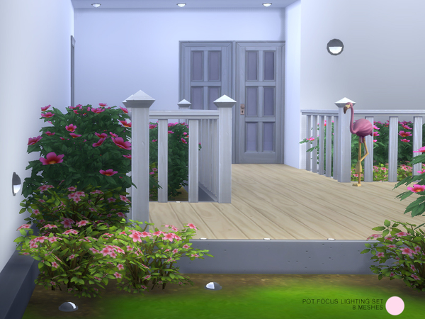 Sims 4 Pot Focus Lighting Set by DOT at TSR