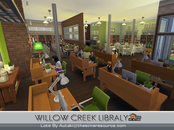 Willow Creek Library by Autaki at TSR image 13103 Sims 4 Updates
