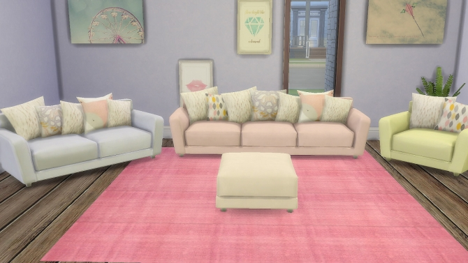 Sims 4 Pastel Hydrogen Living Recolours at DreamCatcherSims4