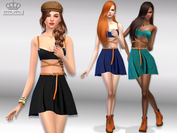 Skater dress w belt by EsyraM at TSR image 1323 Sims 4 Updates