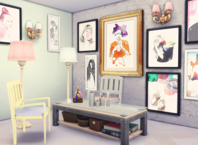 Sims 4 Rosie's Living Room objects at Dani Paradise