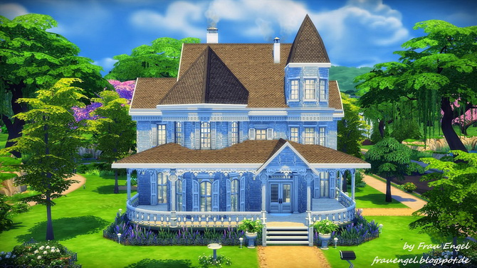 Marshmallow Miracle house by Julia Engel at Frau Engel image 13413 Sims 4 Updates