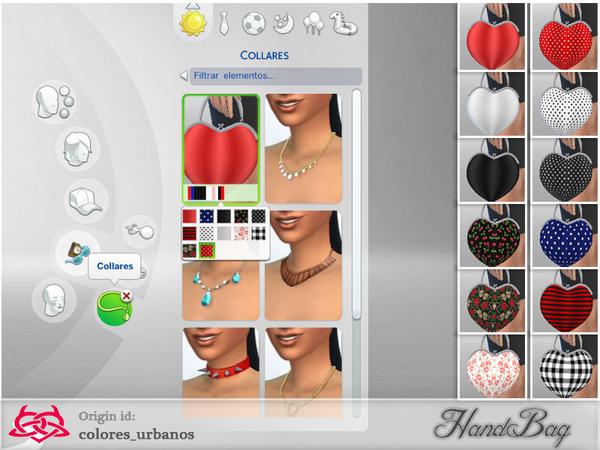 Sims 4 Heart Handbag by Colores Urbanos at TSR