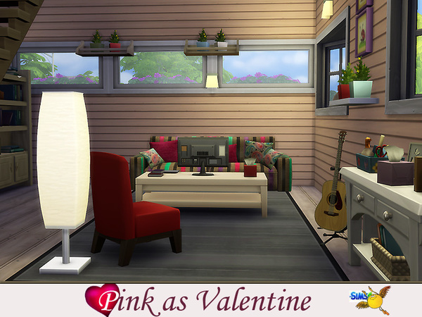 Pink as Valentines house by Evi at TSR image 1360 Sims 4 Updates