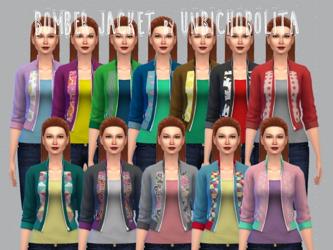 Bomber jacket recolors at Un bichobolita image 136111 Sims 4 Updates