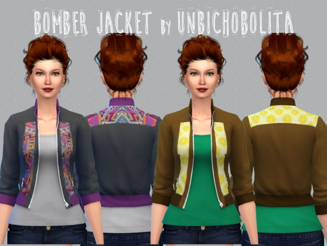Bomber jacket recolors at Un bichobolita image 13711 Sims 4 Updates