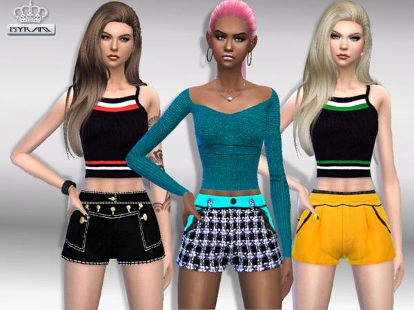 Sims 4 EM shorts & tops sets by EsyraM at TSR