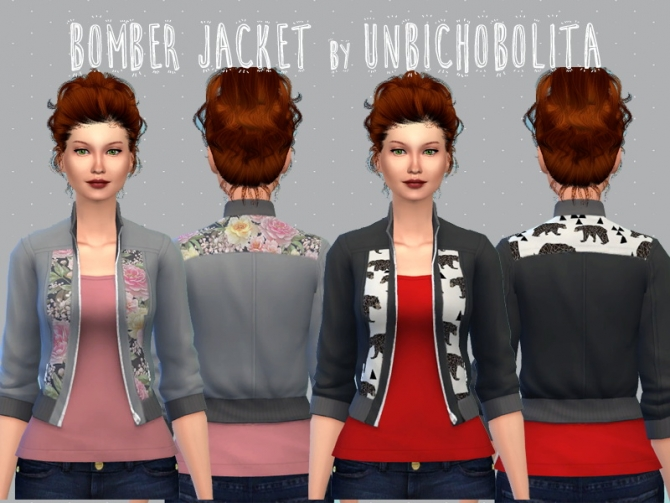 Bomber jacket recolors at Un bichobolita image 13810 Sims 4 Updates
