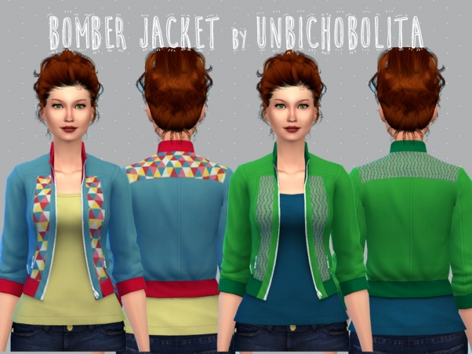 Bomber jacket recolors at Un bichobolita image 13911 Sims 4 Updates
