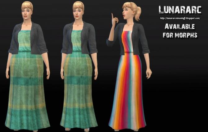 Sims 4 Camellia Maxi Dress With Blazer at Lunararc