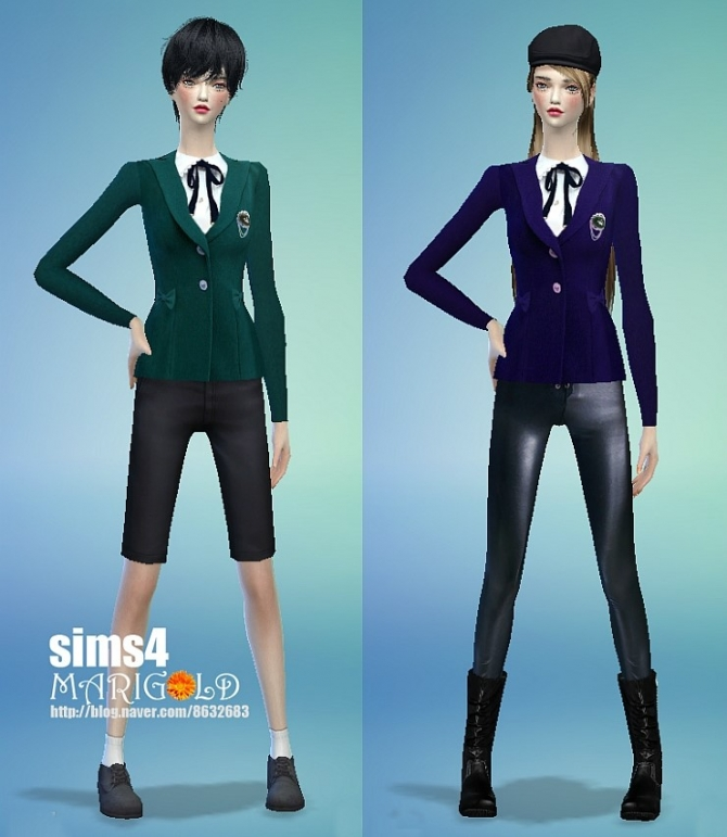 School Uniforms At Marigold 187 Sims 4 Updates