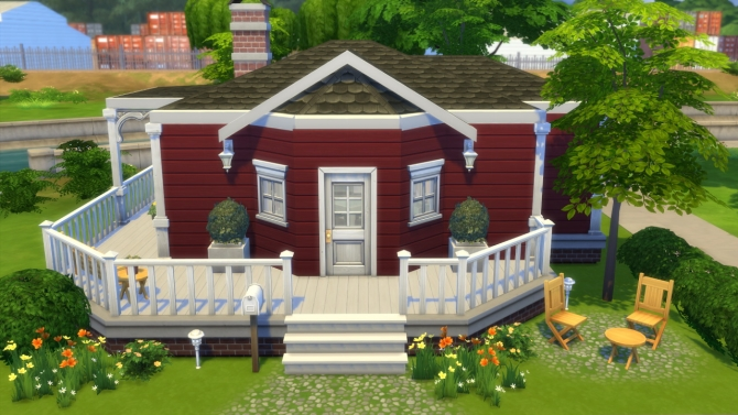 Sims 4 Swedish Starter house at Totally Sims