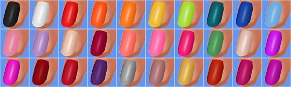 Sims 4 Trendy Nail Polishes at Veranka