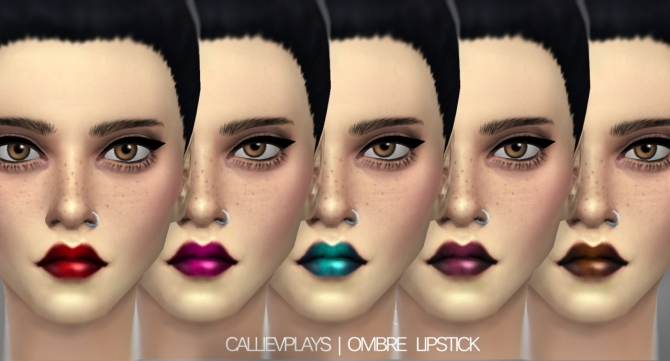Sims 4 5 shades of dark ombre lipstick at CallieV Plays