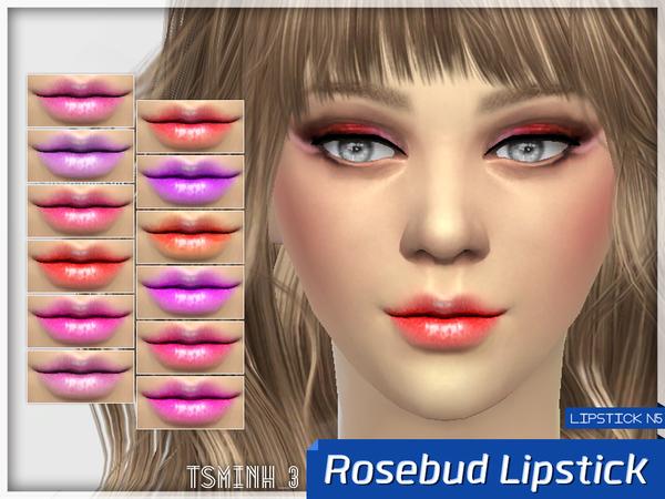 Sims 4 Rosebud Lipstick by tsminh 3 at TSR