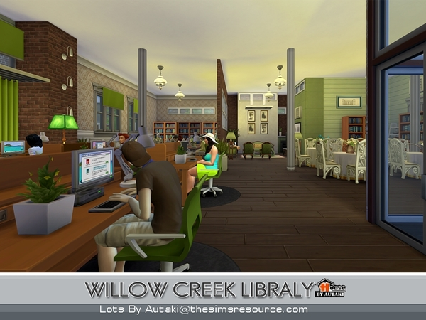 Willow Creek Library by Autaki at TSR image 14104 Sims 4 Updates