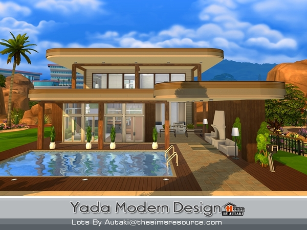 Yada Modern Design house by autaki at TSR image 14105 Sims 4 Updates