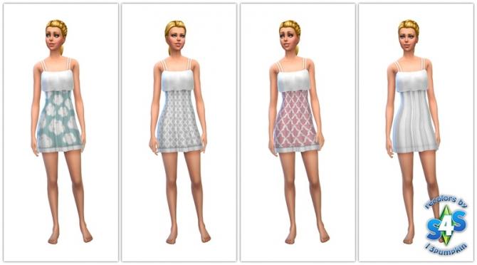 Sims 4 Dress recolors at 13pumpkin31