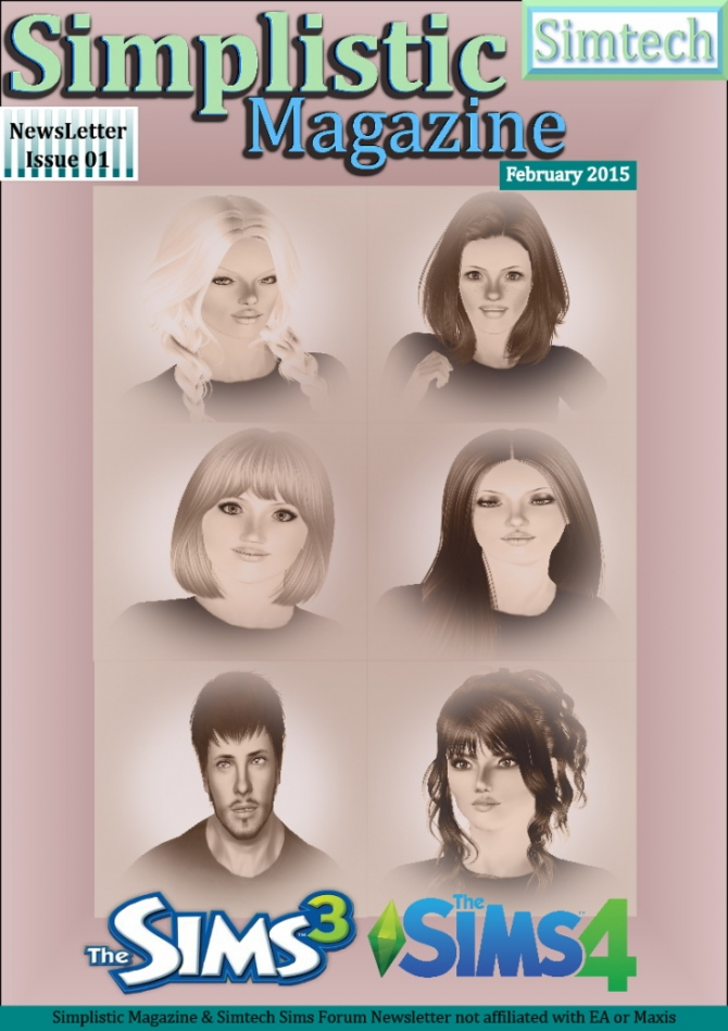 Sims 4 Simplistic Magazine Newsletter Issue 01 at Simtech Sims4