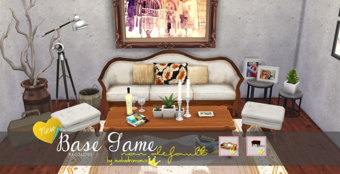 Sims 4 Sofa and ottoman recolors at In a bad Romance