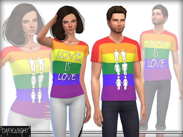 Sims 4 Love is Love tops by DarkNighTt at TSR