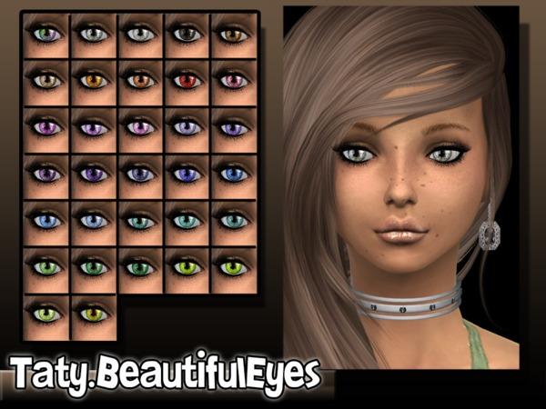 Sims 4 Beautiful Eyes by tatygagg at TSR