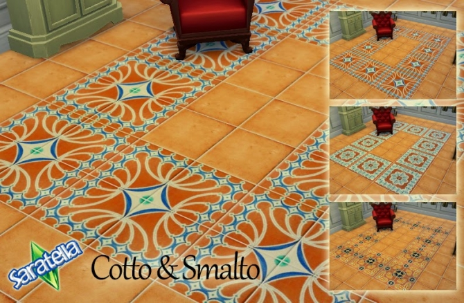 Cotto & Smalto tiles at Saratella's Place image 1441 Sims 4 Updates