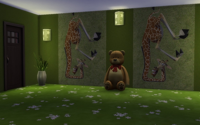 Sims 4 Photo Wall Jolly giraffe by Simchanka at ihelensims