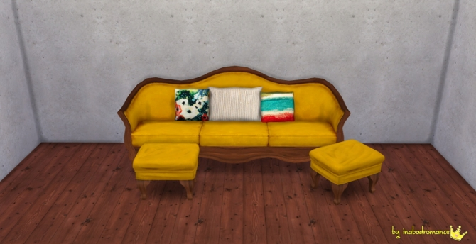 Sofa And Ottoman Recolors At In A Bad Romance 187 Sims 4 Updates