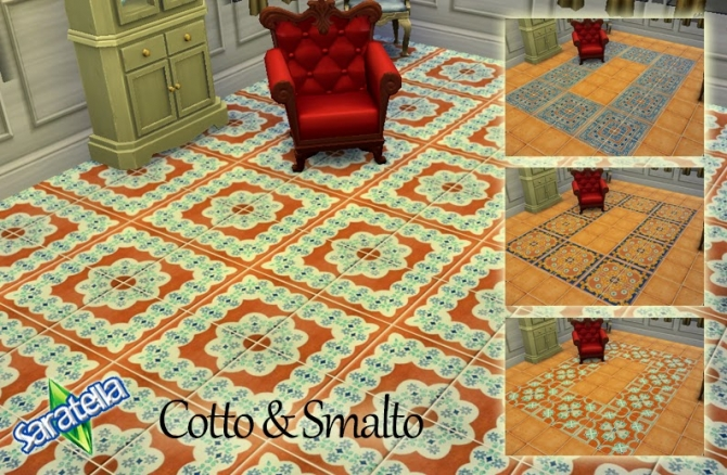 Cotto & Smalto tiles at Saratella's Place image 1451 Sims 4 Updates