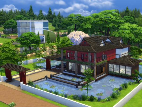 Japanese Sunrise House By Millasrl At Tsr 187 Sims 4 Updates