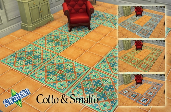 Cotto & Smalto tiles at Saratella's Place image 1461 Sims 4 Updates