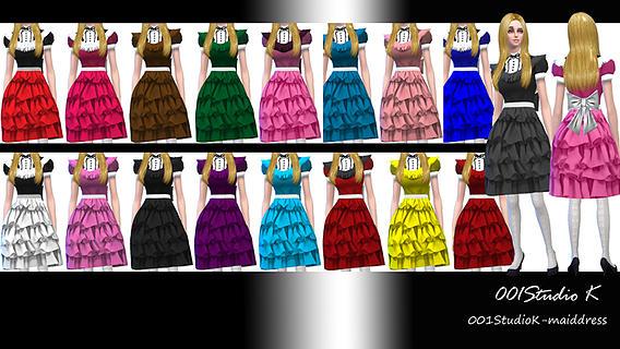 Sims 4 Doris Maid Dress at Studio K Creation