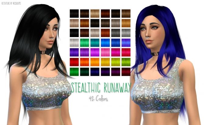Stealthics Runaway Hair Retexture at Nessa Sims image 14615 Sims 4 Updates