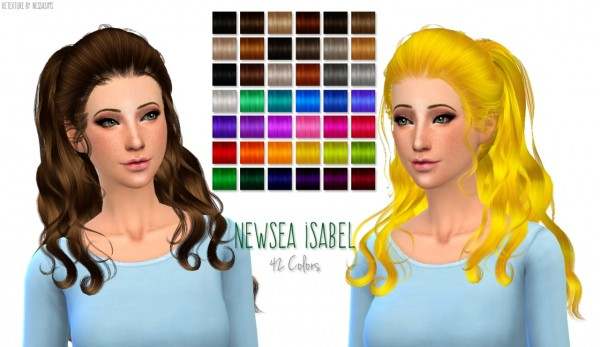 New Hair Recolors At Nessa Sims 187 Sims 4 Updates