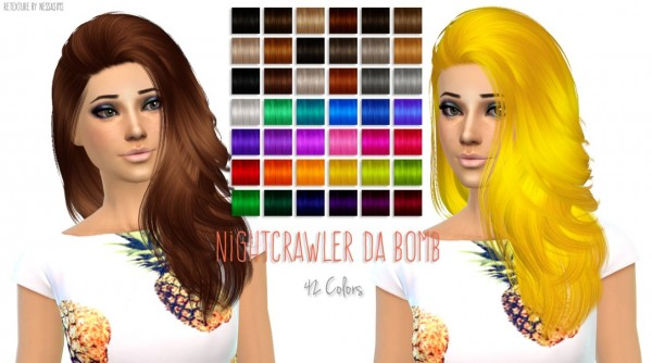 Sims 4 New hair recolors at Nessa Sims