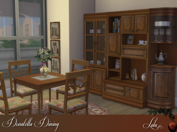 Donatella dining by lulu265 at tsr sims 4 updates for Dining room ideas sims 4