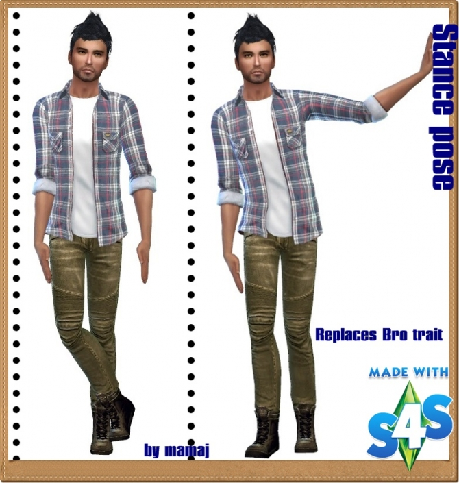 Sims 4 Stance poses by Mama J at Simtech Sims4