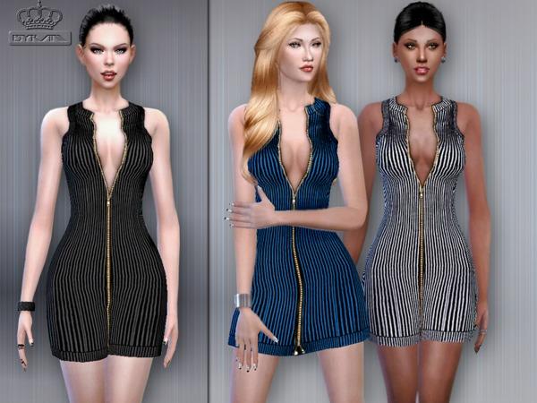 City Ribbed Dress by EsyraM at TSR image 15100 Sims 4 Updates