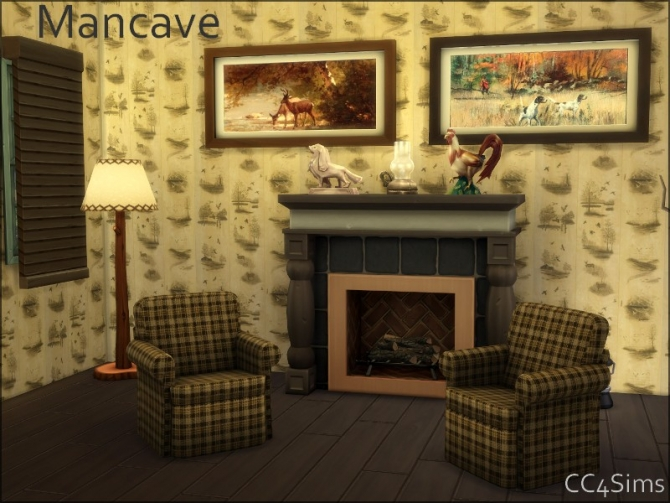 Mancave living by Christine at CC4Sims image 1517 Sims 4 Updates